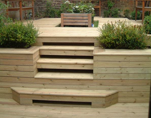 Treated pine decks in sydney nsw branson building material for Box steps deck
