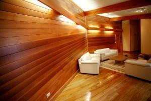 red cedar panelling